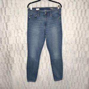 GAP True Skinny High Rise Light Wash Skinny Jeans
